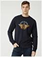 Dockers Dockers Lacivert Baskılı Sweatshirt Mavi